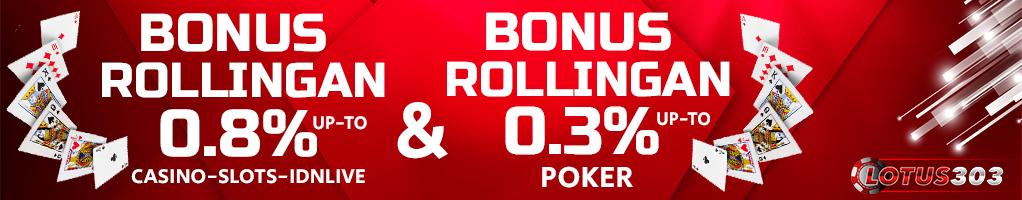 Bonus Casino dan Poker Online